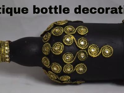Diy.antique bottle decoration. bottle art