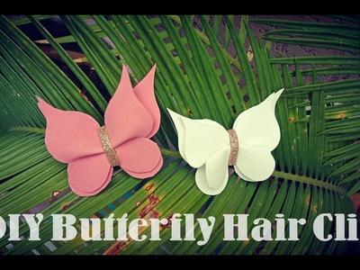 DIY Butterfly Hair Clip for Babygirl   Fomic sheet decoration   Mano's creativity