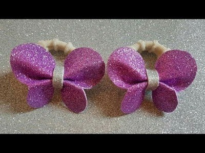 DIY: how to make butterfly hair band with glitter foam sheet easy hand craft ????