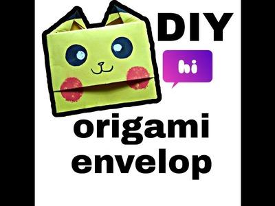 DIY l simple origami envelop l pikachuuu