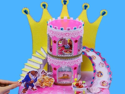 DIY Miniature Dollhouse ~ Belle (Beauty and the Beast) Bedroom and Castle #57