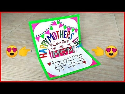 Diy mother's day pop up card making. Handmade greeting card for mother's day