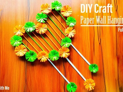 DIY Paper Wall Hanging Craft Ideas || How To Make Heart Shape Wall Hanging Craft At Home | Wallmate!