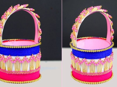 DIY Plastic Bottle & Toothpick Basket   Easy to Make a Beautiful and Unique Basket at Home