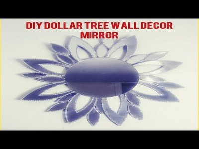 DIY UNIQUE GLAM WALL DECOR MIRROR.DOLLAR TREE ACCENT MIRROR. INEXPENSIVE ELEGANT WALL MIRROR