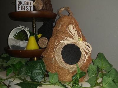Dollar  tree DIY bee's nest farmhouse.spring  decor