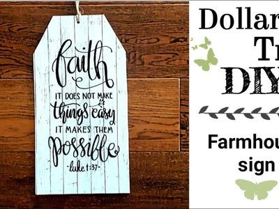 Dollar Tree DIY decor || DIY Farmhouse decor sign