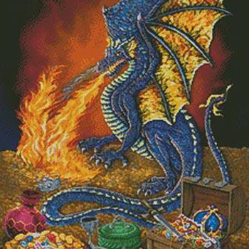 CRAFTS Dragon's Treasure Cross Stitch Pattern***LOOK***Buyers Can Download Your Pattern As Soon As They Complete The Purchase