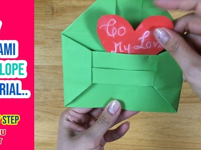 ???? Easy origami envelope tutorial | DIY Envelop | VUNU ART (Ep.5)