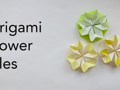 Easy Origami Flower Tile Tutorial (ASMR Paper Folding)