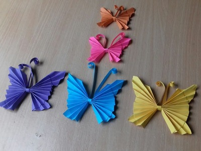 Easy paper butterfly origami - paper butterflies diy - very simple butterfly for beginners ☺