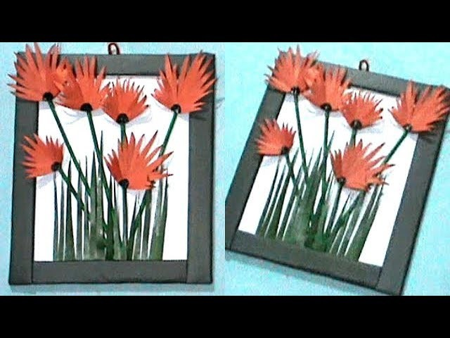 Easy !!! Paper Wall Hanging Craft Idea | Paper Craft | Room Decor | #RS crafts