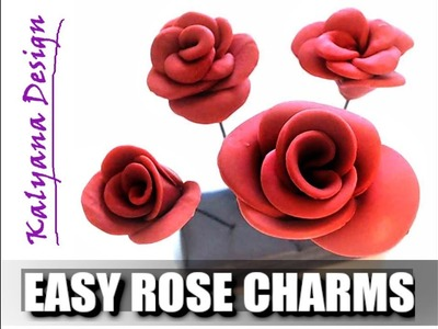Easy rose charms - beginner help - polymer clay tutorial 557