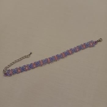 Handmade Purple Blue Pink Bracelet