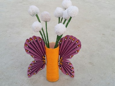 Home decor ideas. Diy. New design flower vase . Best for school projects .Prabha Singh.