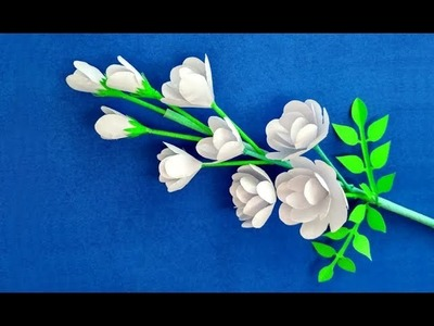 How to make beautiful flower with paper step by step