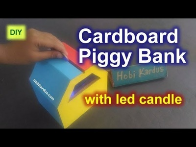 How to Make Cardboard Piggy Bank with LED Candle | DIY Coin Box
