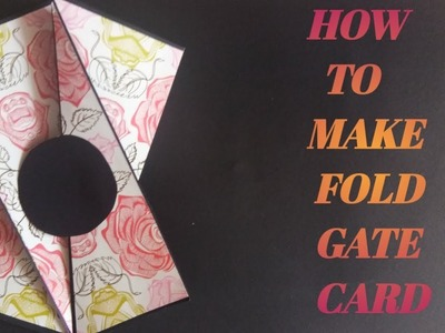 HOW TO MAKE GATE FOLD CARD. TECHNICAL ARTIST. PAPER UNFOLD