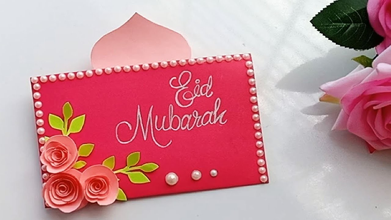 how to make handmade eid card diy beautiful popup eid