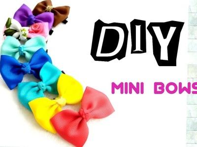 How to make Mini Bows DIY   easy Tutorial    Easy way