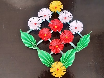 How To Make Paper Flower Wall Hanging By Babita Arts