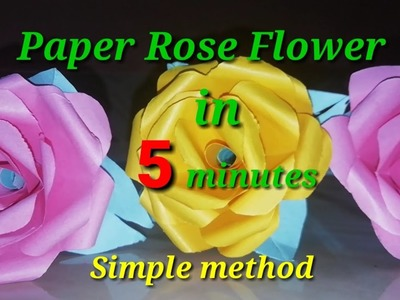 How to Make Simple, Realistic Paper Rose.