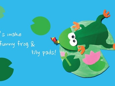 Kids art and craft : make a paper frog & lily pads + 아동미술