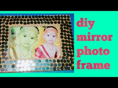 Kids summer activitie #make#photoframe with mirrors  decoration #.diy photo frame making