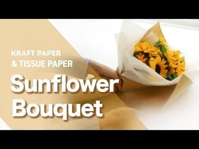 Kraft paper Packaging for Sunflower bouquet. Lizi&Co.