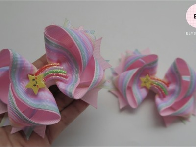Laço De Fita ???? Ribbon Bow Tutorial #56 ???? DIY by Elysia Handmade