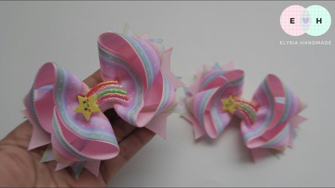 Laço De Fita ???? Ribbon Bow Tutorial #56 ???? DIY by Elysia Handmade