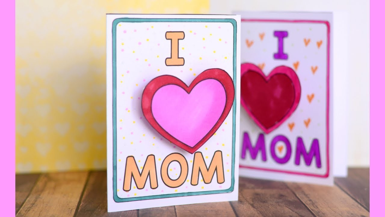 Mothers Day Card - easy paper crafts for kids