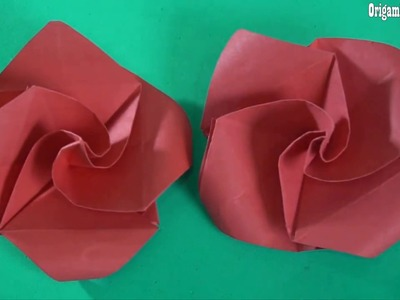 Origami Rose Easy Paper Craft For Kids |  Easy Paper Crafts