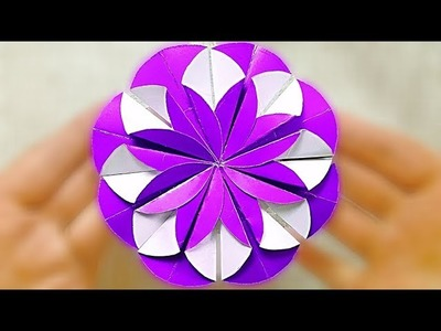 Paper Flower Tutorial. Circle Paper Flowers decorations for scrapbooking, for mother's day