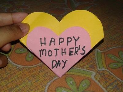 Paper Heart Flower Card - Mother's Day Card | Crafty Soniya