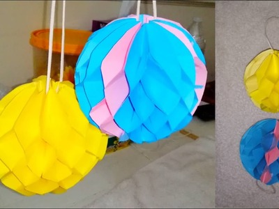 Paper honeycomb ball. How to make paper honeycomb ball