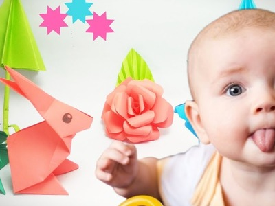 Playing With Paper Origami Toy | Paper Origami Rabbit For kids | What TV Kids