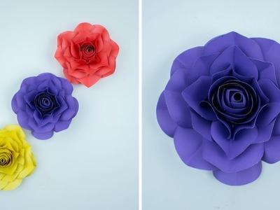 Realistic Paper Rose - Paper Flower - Paper Craft - Easy Way To Make Realistic Paper Rose - DIY