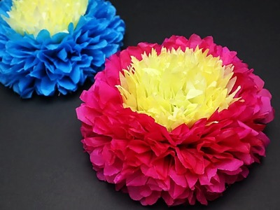Tissue Paper Flower For Birthday. Wedding. Baby Shower Party Decorations