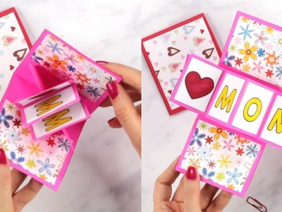 Twist and Pop Mothers Day Card - paper crafts for kids