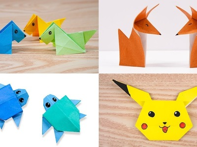 04 Easy origami Cute animal - Dogs.Foxes.Turtles.Pikachu