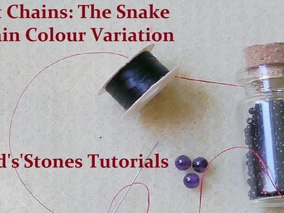 Beads'n'Stones - Flat Chains: The Snake Chain - Colour Variation 1