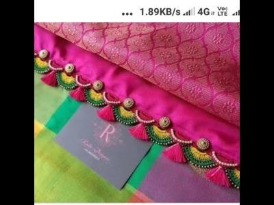 Beautiful arch crochet saree kucchu designs