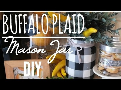 BUFFALO PLAID MASON JAR DIY