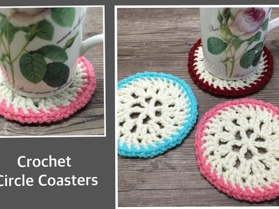 Crochet Circle Coasters. 코바늘 원형 티매트