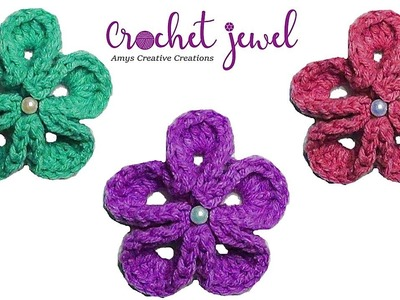 Crochet Japanese Flower Tutorial - Crochet Jewel
