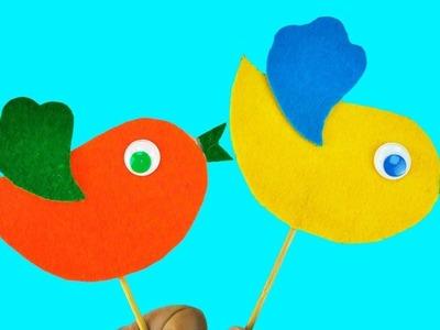 DIY Colorful Birds with felt Super Simple Skills For Kids