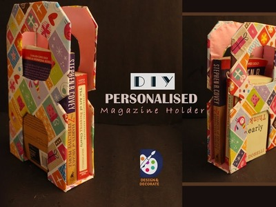 DIY Magazine Holder with Cardboard.Handmade Personalised gift for Book Lovers