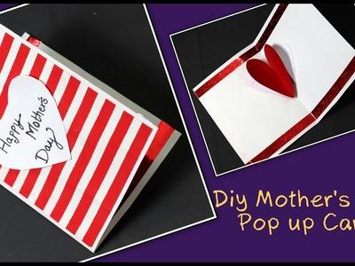 Diy Mother's Day Card   Heart popup card   handmade card 
