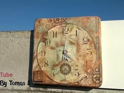 DIY My Wooden clock  II. (decoupage technica)